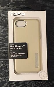 NEW - GOLD w/ grey inner bumper - Incipio DualPro Shine iPhone 6/7/8 Case - FS