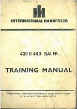 INTERNATIONAL 430 440 BALER SERVICEMANS TRAINING MANUAL