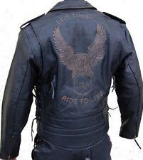 Retro Giacca di pelle Chopper Biker Rocker Giacca di pelle-NUOVO