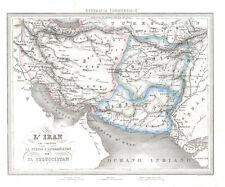1850 F.C. Marmocchi  L'Iran (Original Hand Colored Antique Map)