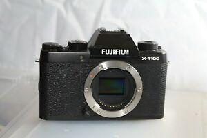 Fujifilm X-T100 X-Series Digital Camera Body Only Black Excellent Boxed