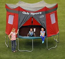 NEW Trampoline Clubhouse Tent Cover Fun Playhouse Rain Resistance Tarp Enclosure