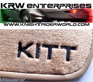 1982-1992 PONTIAC FIREBIRD KNIGHT RIDER KITT FLOOR MAT SET MATS K2000 SUPERCAR