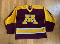 Minnesota Golden Gophers Vintage Alpha Sportswear Mesh Hockey Jersey Size L EUC