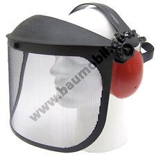 Gesichtsschutz/Gehörschutz mit Metallnetzvisier /Motorsense/ Arbeitsschutz,