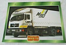 Trucks Maxi Card FlatBeds & Tippers - 1988 MAN M 90 17-232