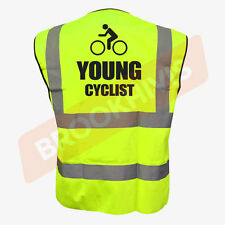 Cycling Hi Viz Vis Cycle Waistcoat Vest Tabard Road Safety Reflective Bike Rider S Young Cyclist