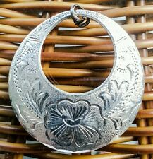Antique 925 Sterling Silver Circle Pendant