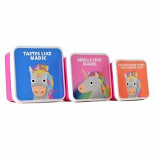 Jolly Awesome Gift Set of 3 Lunch Boxes - Unicorn 'Tastes Like Magic'