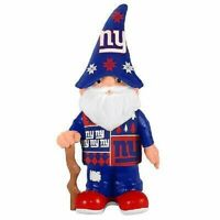 """New York Giants 11.5"""" Sweater Indoor Gnome Forever Collectibles NFL Foco"""