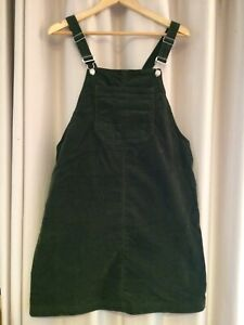 Dungarees - Forest Green - Corduroy - Size 16