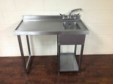 More details for glasswash bar station, stainless steel, bar sink, anti drip for 400mm glasswash