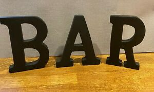 Large Black Wooden Letters Approx 15cm