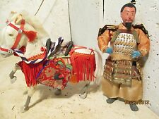 Vintage JAPANESE WARRIOR Doll and Horse RARE!