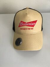 Budweiser Logo Hat Cap With Bottle Opener