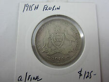 1915H Australia FLORIN in about fine. RARE coin - ideal to fill a spot 4 a set