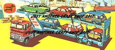 CORGI TOYS GS 41 voiture TRANSPORTER ensemble cadeau Grande Taille Affiche Publicité SIGNE NOTICE