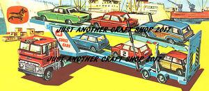 Corgi Toys GS 41 Ford Car Transporter Gift Set Poster Advert Sign Leaflet Large