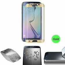 FULL CURVED TEMPERED GLASS LCD SCREEN PROTECTOR FOR SAMSUNG GALAXY S6 EDGE Gold