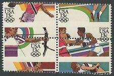 "#2051a Var. ""Olympics 1984"" Block Of 4 Major Misperf Error Bs1981"