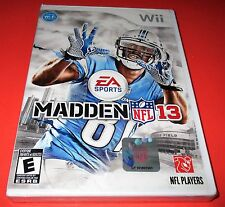 Madden NFL 13 Nintendo Wii *Factory Sealed! *Free Shipping!