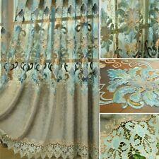 Embroidery Floral Curtain Fabric Pelmets Net Tulle Window Panel Drape Modern DIY