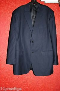 MARCHATTI MADE IN ITALY MEN'S BLAZER NAVY BLUE 2 BUTTONS SIZE 48 L