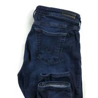 AG Adriano Goldschmied Womens 29 The Legging Super Skinny Dark Blue Stretch Jean