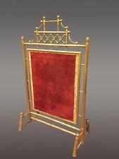 Pare-feu Napoléon III bambou bois doré