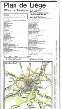 Plan de la ville de LIEGE - BELGIUM - 1981 - Office du Tourisme - Pliée en 12