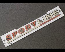 Sportline insignia emblema Calcomanía VW Rojo Tapa de arranque Trasera Puerta Trasera Portón Trasero Tronco T39r