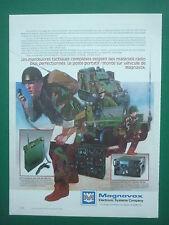 3/1988 PUB MAGNAVOX RADIO PORTATIVE VHF/UHF AN/PR-113 AN/VCR-83 JEEP FRENCH AD