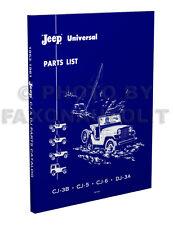 1953-1961 Jeep CJ Master Parts Catalog CJ3B CJ5 CJ6 DJ3A 3B 5 6 Illustrated Book