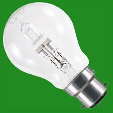 6x 70W (=100W) CLEAR DIMMABLE HALOGEN GLS ENERGY SAVING LIGHT BULBS, BC B22 LAMP
