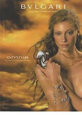 PUBLICITE ADVERTISING 2001   BULGARI le nouveau parfum OMNIA