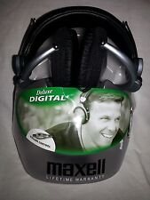 MAXELL HEAD PHONES HP-550F Deluxe Digital Volume Control Black/Silver Foldable