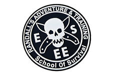 ESEE-RAT-PATCH Esee Knives PVC School of Survive Logo Patch, NEW & FREE SHIPPING