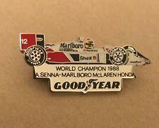 PIN AYRTON SENNA WORLD CHAMPION 1988 MARLBORO - McLAREN HONDA - GOOD YEAR