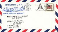 Space Shuttle B-747 Proficiency Test Flight Pilot Fulton, Edwards 17.11.80