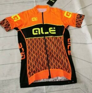 Ale PRS Women's Cycling Jersey, Orange/Black, Medium. ALE33