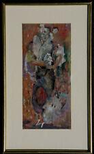 Mistinguett en costume asiatique tableau peinture à l'huile signé Kazik