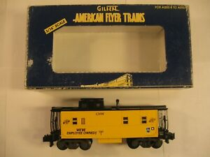 """American Flyer 1060T CNW """"WE'RE EMPLOYEE OWNED"""" CABOOSE """"NEW"""" in ORIG BOX"""