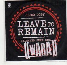 (GF789) Wara, Leave To Remain - DJ CD