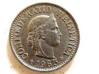 1965 Swiss Ten (10) Rappen Coin