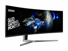 "Samsung CHG90 49"" 32:9 Curved 144 Hz FreeSync 2 HDR QLED DFHD Gaming Monitor TV"