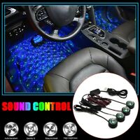 USB Car LED Atmosphere Lamp Sound Control Interior Ambient Star Light Decor Kit