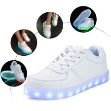 LED Light Up Shoes Unisex USB Charging Luminous Sneakers Casual Couple Shoes