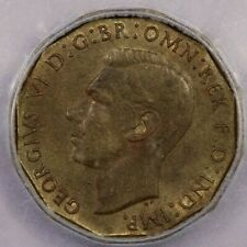 1946 Great Britain 3 Pence ICG AU55
