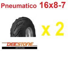 2 Pneumatici 16x8-7 Quad Atv 7 Pollici Gomme Copertoni Deestone UV978