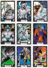 INCREDIBLE HULK 1991 COMIC IMAGES COMPLETE BASE CARD SET OF 90 MARVEL
